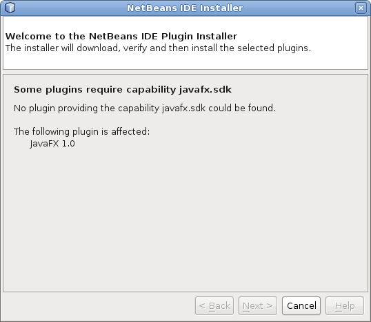 some plugins require capability javafx.sdk
