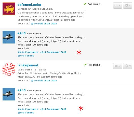 the twitter list
