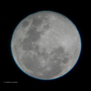 Blue Ring Around the Moon