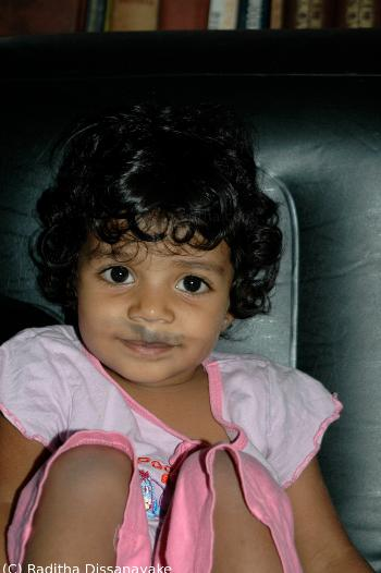 Little Aminthika with a Mustache